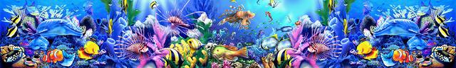картинка тропических рыбок для фартука 9
