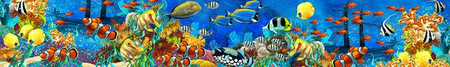 картинка тропических рыбок для фартука 11
