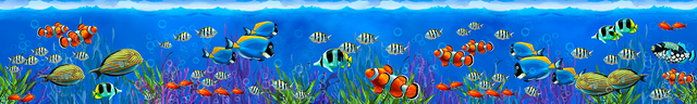 картинка тропических рыбок для фартука 15