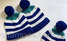 Дитяча шапка в'язана в смужку COS