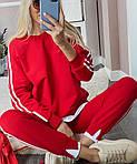 Женский спортивный костюм, турецкая двунить, р-р 42-44; 44-46 (красный), фото 3