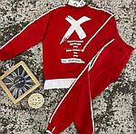 Женский спортивный костюм, турецкая двунить, р-р 42-44; 44-46 (красный), фото 2