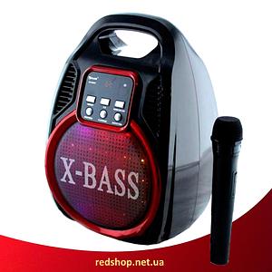 Колонка Golon RX 820 з мікрофоном - портативна Bluetooth колонка з радіо і світломузикою