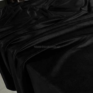 Ткань плюш велюр черный