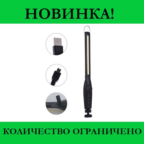 Фонарик BL 821 + с магнитом COB 18650 battery usb charge- Новинка
