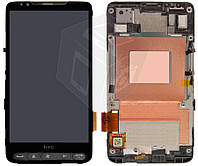 Дисплей + touchscreen (сенсор) для HTC Touch HD2 T8585, с рамкой, оригинал
