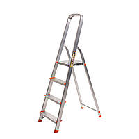 Стремянка алюминиевая Laddermaster Alcor A1A4. 4 ступеньки, фото 1