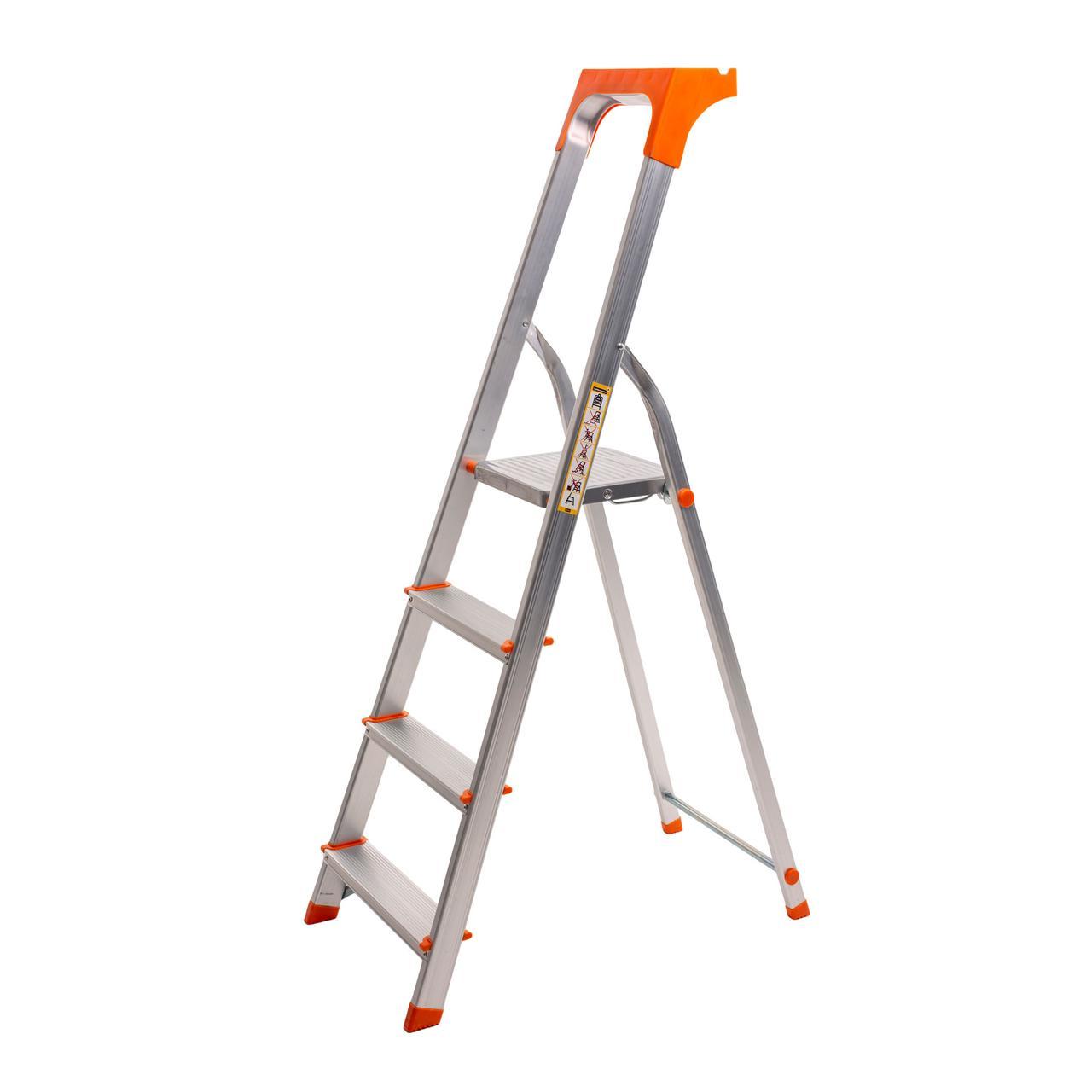 Стремянка алюминиевая Laddermaster Alcor A1AT4. 4 ступеньки