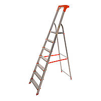 Стремянка алюминиевая Laddermaster Alcor A1AT7. 7 ступенек, фото 1
