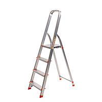 Стремянка алюминиевая Laddermaster Vega A1B4. 4 ступеньки, фото 1