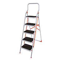 Стремянка стальная Laddermaster Intercrus S1B5. 5 ступенек, фото 1