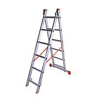 Лестница двухсекционная алюминиевая Laddermaster Sirius A2A6. 2x6 ступенек