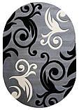 Ковер рельефный Legenda 0391 серый, фото 3