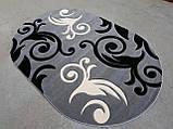 Ковер рельефный Legenda 0391 серый, фото 4