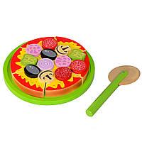 Игрушка пицца деревянная T65-015