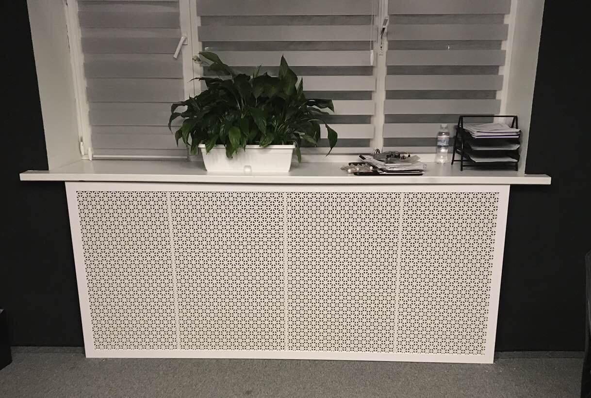 Решетка на батарею отопления по индивидуальным размерам   Экран для батареи, цвет белый белый, Сити