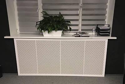 Решетка на батарею отопления по индивидуальным размерам | Экран для батареи, цвет белый белый, Сити