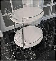Сервировочный столик на колесиках Флоренция V323 белый 600х500х800
