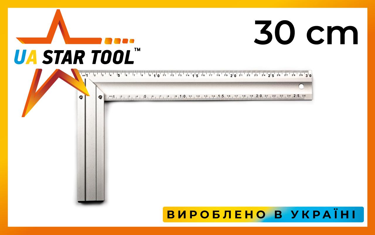 Косинець STAR TOOL 300 мм, алюмінієвий, двосторонній