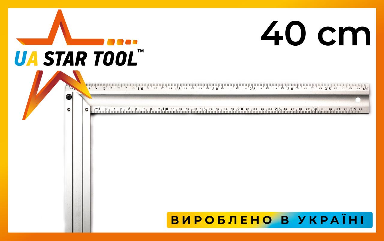 Угольник STAR TOOL 400 мм, алюминиевый, двухсторонний