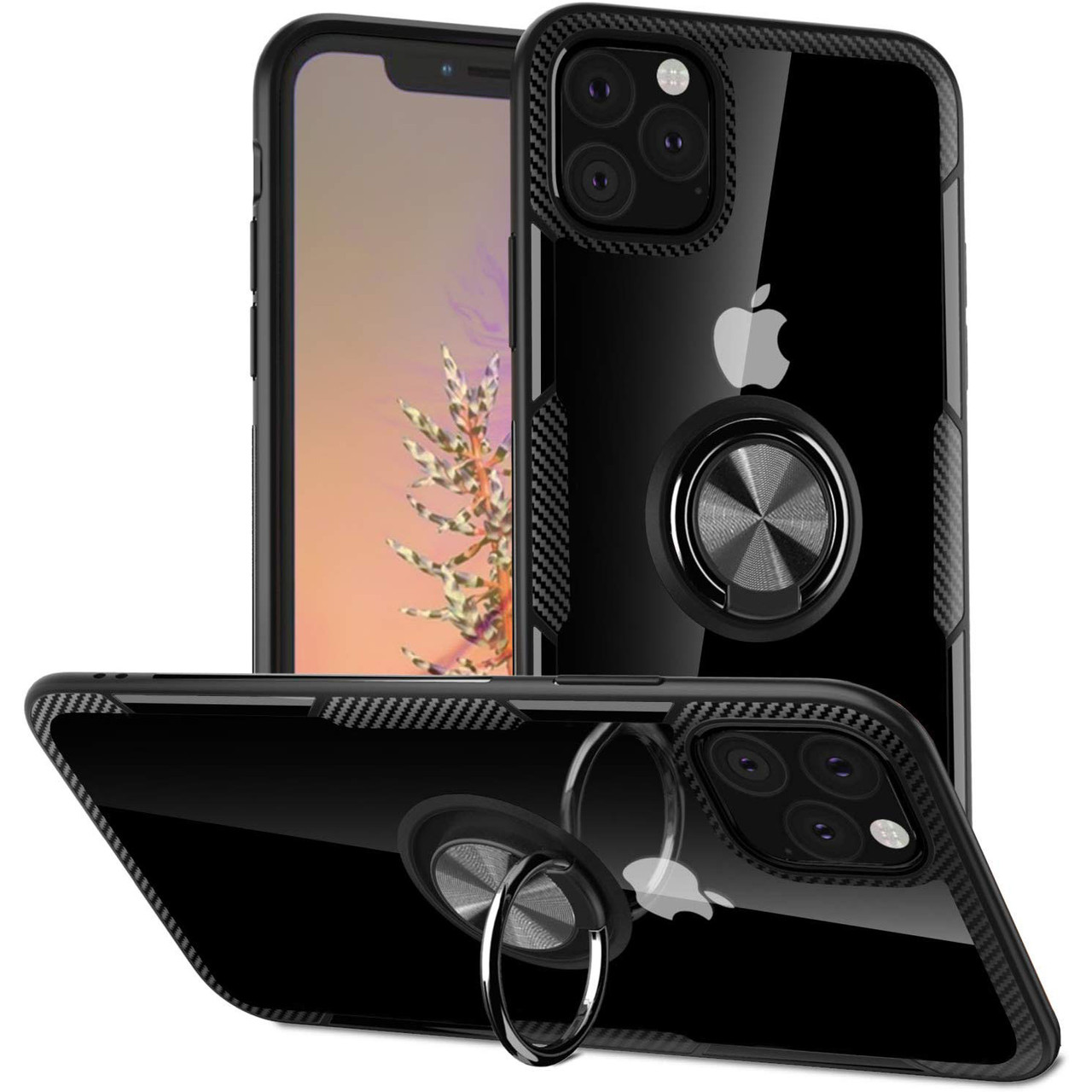 "TPU+PC чехол Deen CrystalRing for Magnet (opp) для Apple iPhone 11 Pro Max (6.5"")"