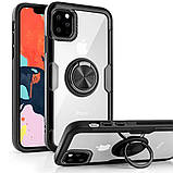 "TPU+PC чехол Deen CrystalRing for Magnet (opp) для Apple iPhone 11 Pro Max (6.5""), фото 5"