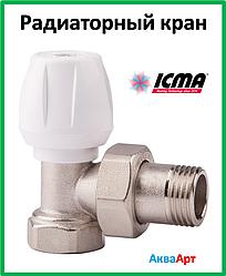 ICMA Кран радиаторный верхний угловой 1/2 Арт. 803
