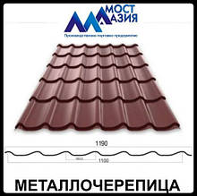 Металлочерепица МостАзия 0,45 мм RAL 8017