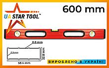 Уровень строительный STAR TOOL 600 мм, окрашенный, 3 капсулы, 2 ручки