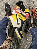 Кроссовки мужские Nike Air Jordan 1 Mid Yellow Black