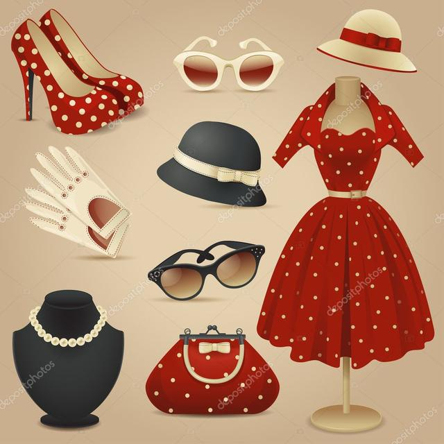 Жіночі вбрання, аксесуари, біжутерія