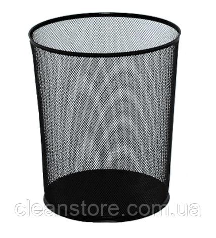 Металлическая корзина для бумаг сетка 12 л EFORMETAL чёрная (2001), фото 2