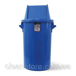 Мусорный бак типа буфет с поворотной крышкой синий пластик 90л BCK 107, фото 2