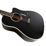 Набір акустична гітара Equites EQ900C BK 41 + чохол + каподастр, фото 3