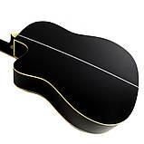 Набір акустична гітара Equites EQ900C BK 41 + чохол + каподастр, фото 4