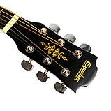 Набір акустична гітара Equites EQ900C BK 41 + чохол + каподастр, фото 5