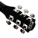 Набір акустична гітара Equites EQ900C BK 41 + чохол + каподастр, фото 6