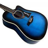 Набір акустична гітара Equites EQ900C BLS 41 + чохол + каподастр, фото 3