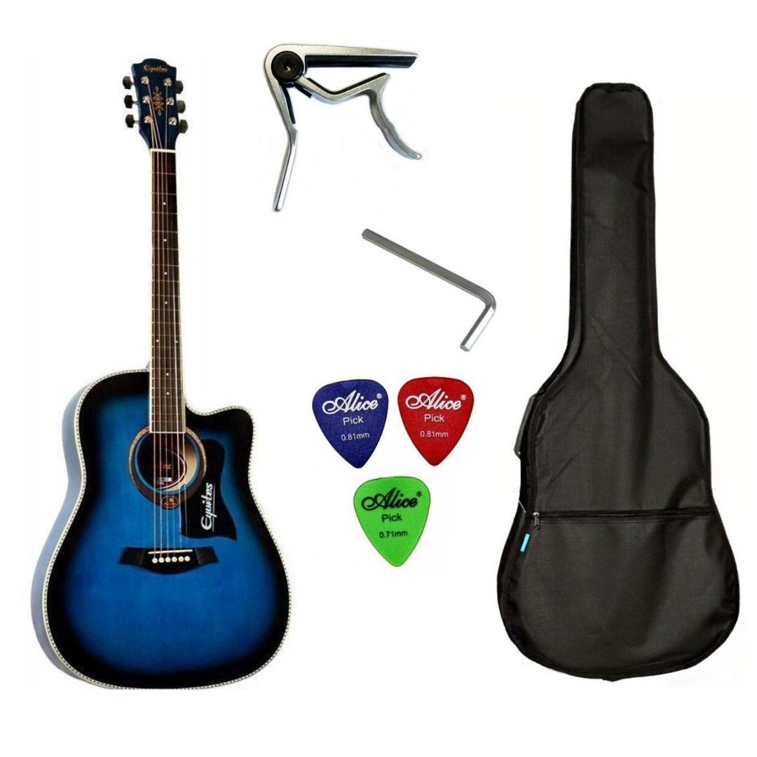 Набір акустична гітара Equites EQ900C BLS 41 + чохол + каподастр