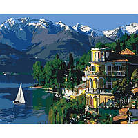 """Картина по номерам. Городской пейзаж """"Вдохновляющая Италия"""" KHO3511, 40*50 см"""