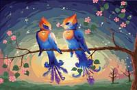 """Картины по номерам """"Райские птички"""""""