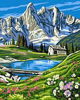 "Картина по номерам. Brushme ""Швейцарские Альпы"" GX6716"