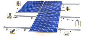 Комплект креплений солнечных панелей - Под заказ