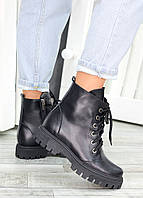 Ботинки трапперы черная кожа 7459-28, фото 1