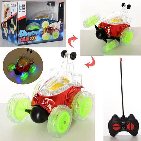 Машина 9088 на радиоуправлении, батарейки, трюковая, поворот 360, фото 2