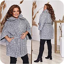 """Пальто жіноче """"баранець"""" з укороченим рукавом, різні кольори р. 48-50,52-54,56-58,60-62,64-66 Код 3370Ф"""