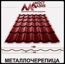 Металлочерепица МостАзия 0,45 мм RAL 3005 МАТ