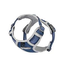 Шлея для собак TUFF HOUND TH003 Blue M світловідбиваюча