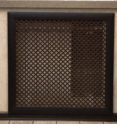 """Решетка на чугунную батарею """"Стандарт"""", 68 см х 68 см, цвет венге"""