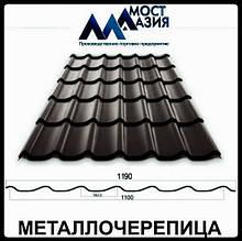 Металлочерепица МостАзия 0,5 мм RAL 7024 МАТ